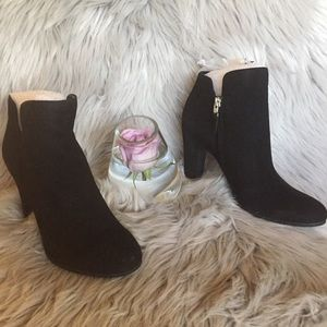 Sam Edelman Shelby Black Suede Ankle Boot